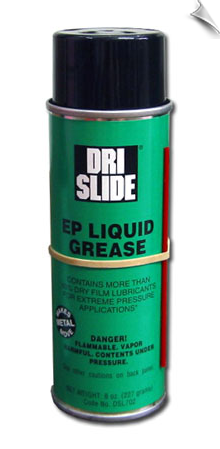DRI-SLIDE® EP LIQUID GREASE, 8 oz. aerosol, case of 12