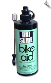 DRI-SLIDE® BIKE-AID® LUBRICANT, 4 fl oz bottle w Needle Applicator, case of 12
